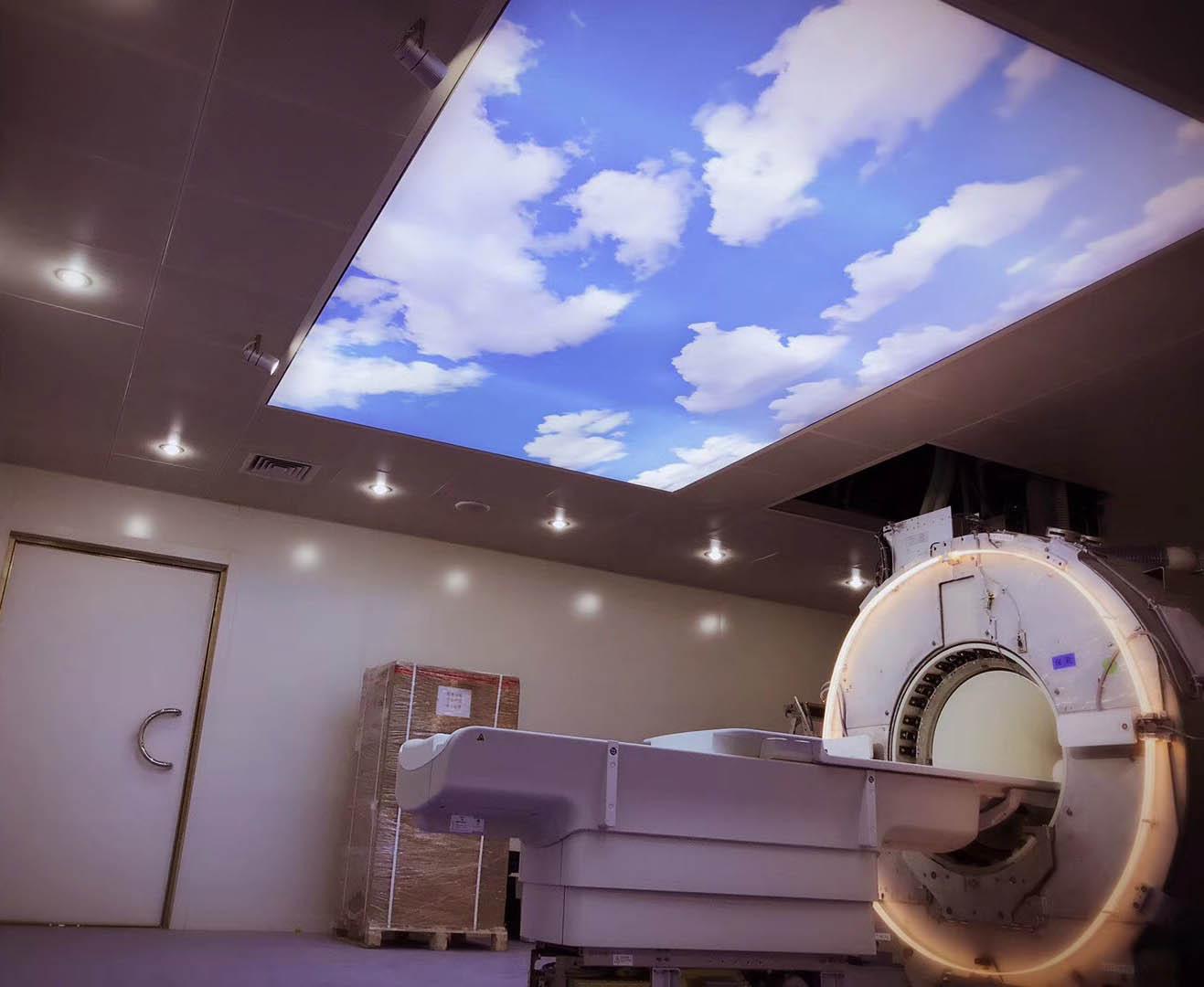磁共振亚博足彩APP室蓝天白云效果展示